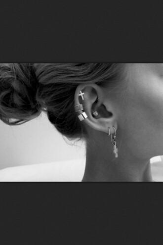 earing jewels piercing cross