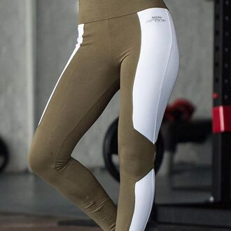 leggings maniere de voir gym activewear khaki fitness workout leggings