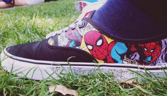 shoes vans spider-man