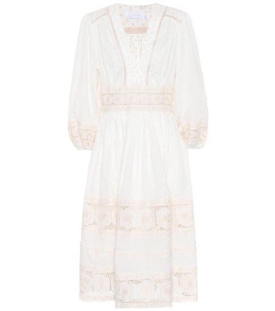 Zimmermann dress cotton white