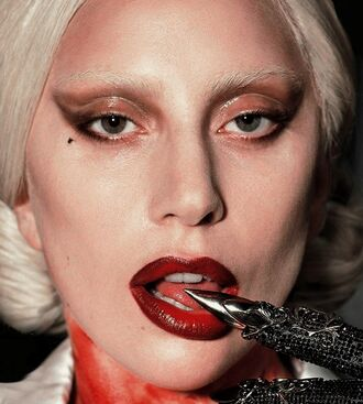 make-up lady gaga american horror story ahs hotel red lipstick