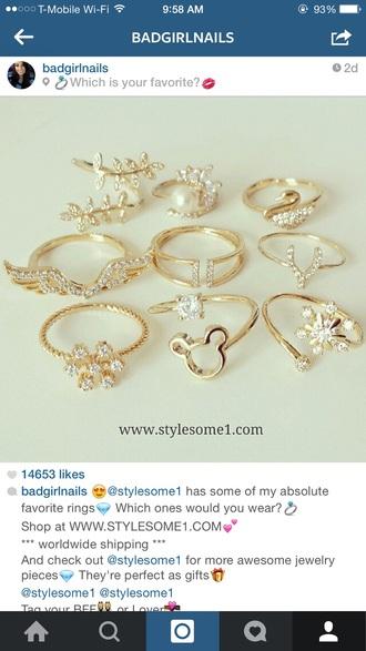 jewels midi gold ring