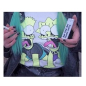 top,bart simpson,lisa,the simpsons,t-shirt