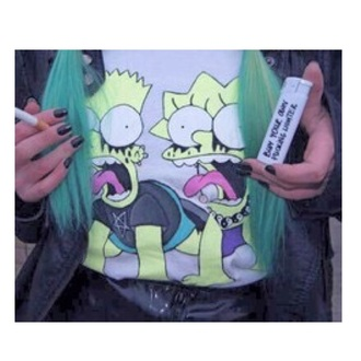 top bart simpson lisa the simpsons t-shirt