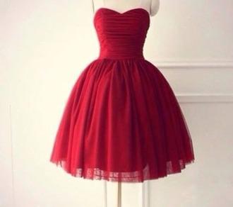 dress red dress bustier