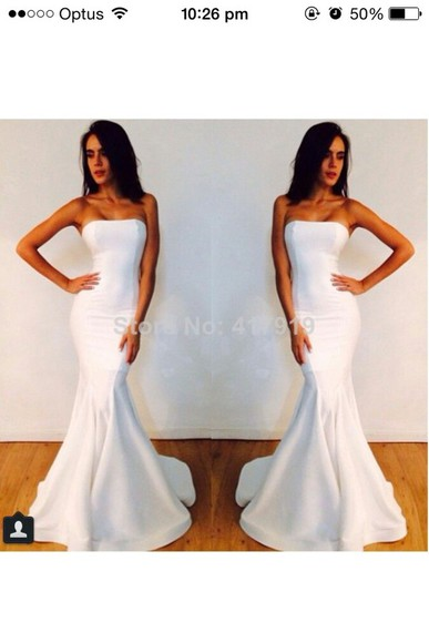 classy formal strapless prom simple