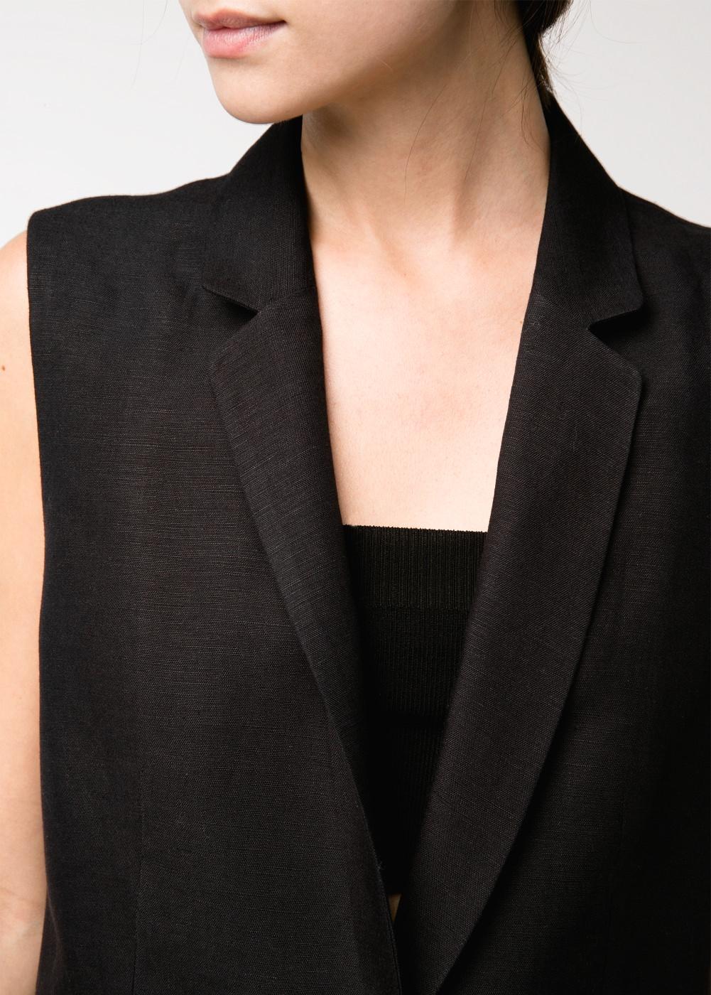 Sartorial vest -    Women - MANGO