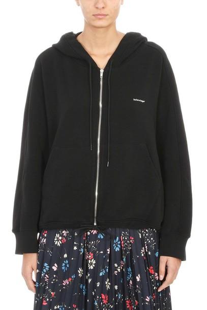 Balenciaga hoodie sweatshirt black sweater