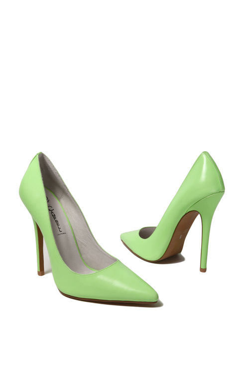 Jeffrey Campbell Darling Glow in the Dark Pump in Green Glow | ShopAkira.com