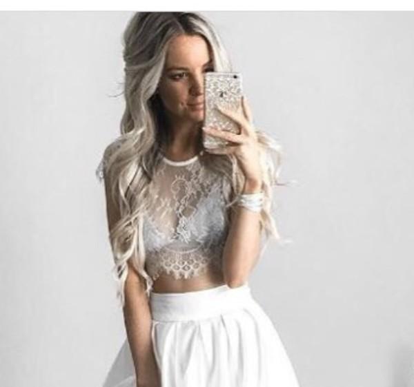 shirt lace white lace top