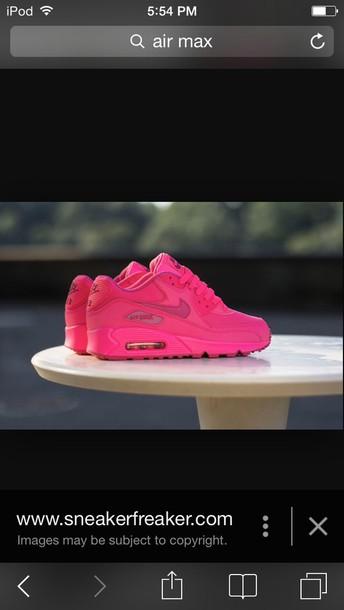 shoes pink air max