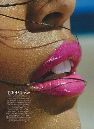 make-up lipstick lip gloss pink lipstick editorial