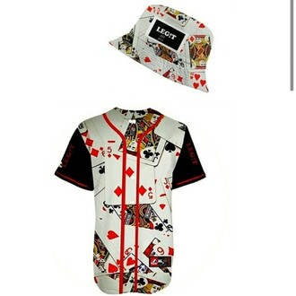 hat bucket hat jersey baseball jersey cards dope summer outfits belt printed bucket hat