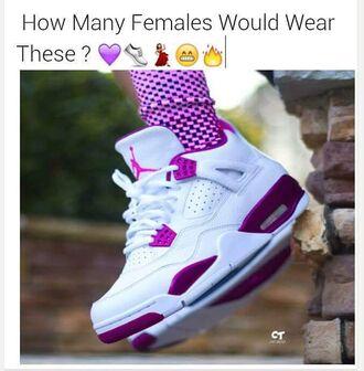 shoes pink jordans tennis shoes high top sneakers jordan high tops