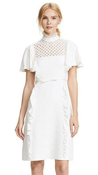 GIAMBATTISTA VALLI dress high ruffle high neck white