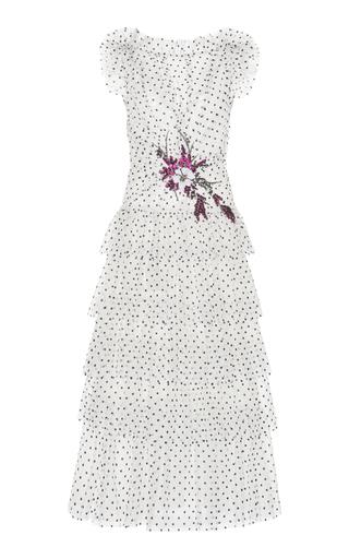 Flocked Tulle Ruffle Dress | Moda Operandi