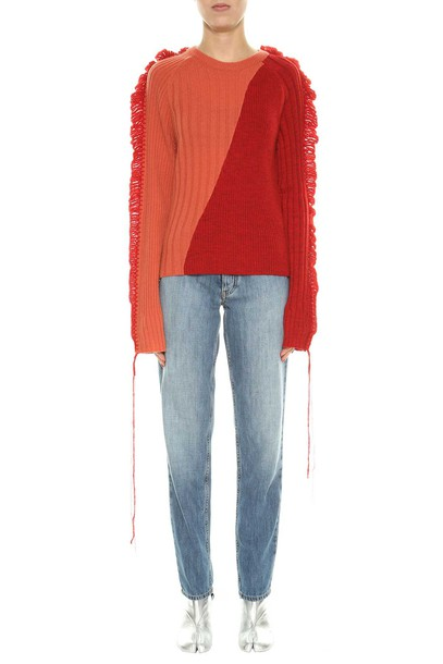 sweater knitted sweater red