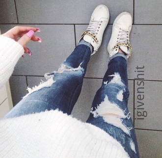 shoes sneaker justinbieber golden style swag sassy classy chain onedirection hipster sneakers white yolo kylie jenner 2015 trends girly jeans