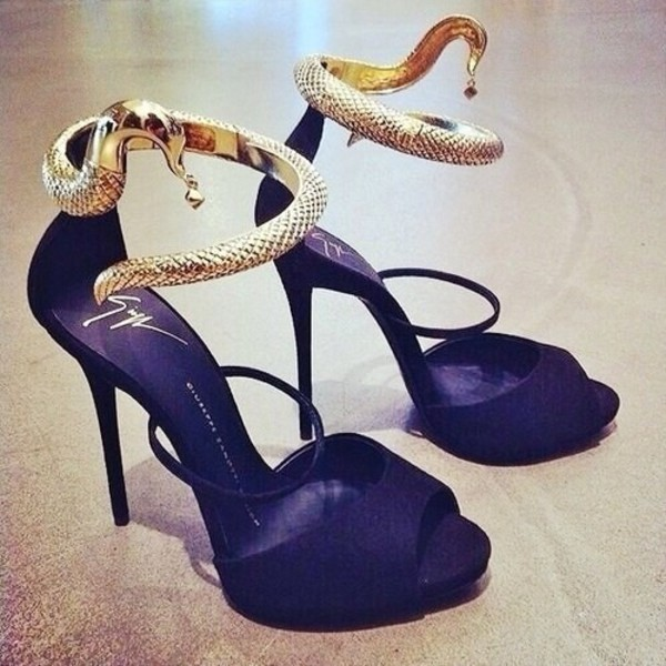 shoes shoes high heels high heels tiptoe tip toe hipster classy sassy snake bitch sweet 16 mother black and gold