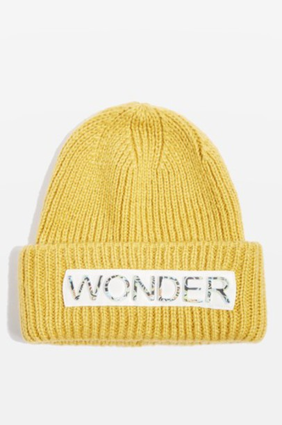 Topshop hat beanie yellow