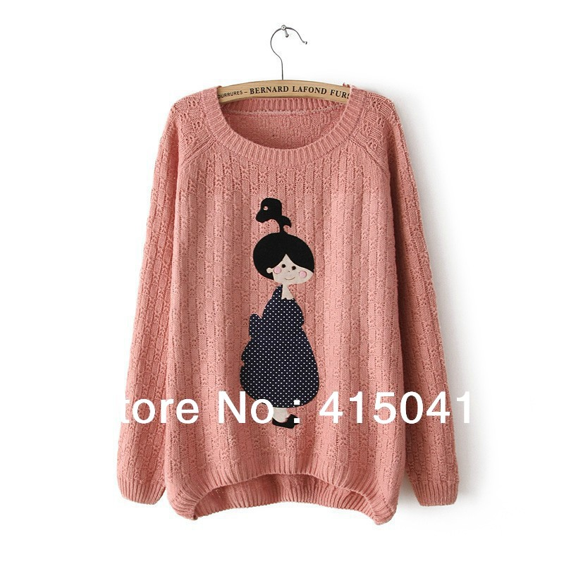 Aliexpress.com : Buy 2014 NEW Economical Style Irregular Patchwork Applique Cartoon Tops Coat Knitted Sweater Outerwear from Reliable sweater vest suppliers on Shanghai YIJIE Fashion Co., Ltd.