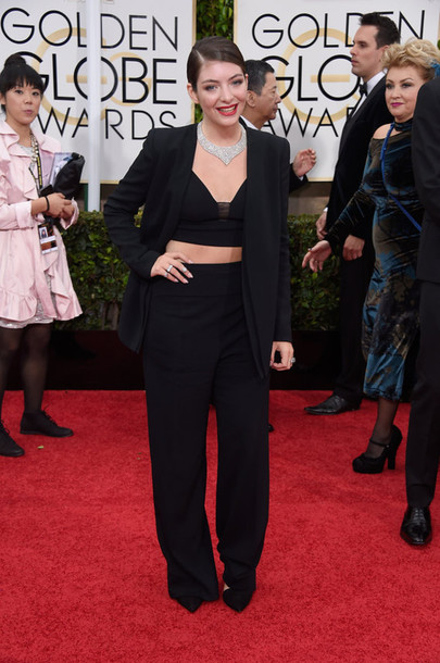 jacket lorde Golden Globes 2015