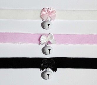 jewels choker necklace choker collar cute kawaii pastel pastel goth pastel pink pastel grunge black white pink
