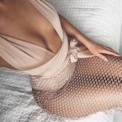 dress,naked outfit,nude dress,mesh,mesh dress,sheer,see through dress,nude,multiway,skirt,party dress,gold,gold dress,glden,glitter,glitter dress