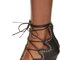 Isabel marant - black leather lelie ghillies gladiator sandals