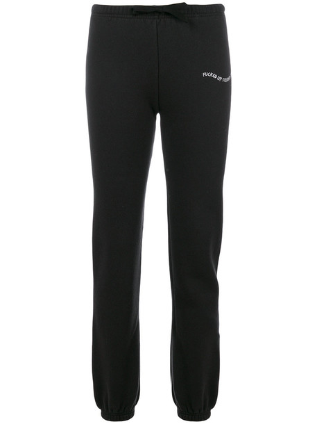 Local Authority pants embroidered women cotton black