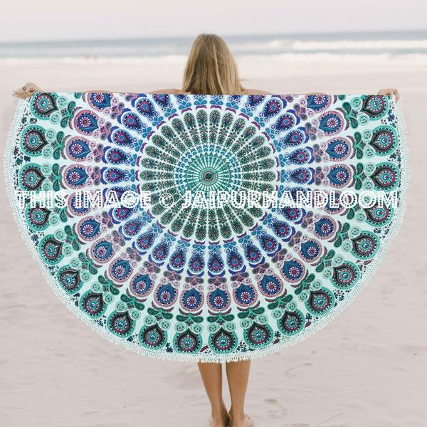 Aklima Round Beach Towels