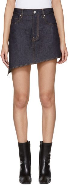 Helmut Lang miniskirt denim skirt