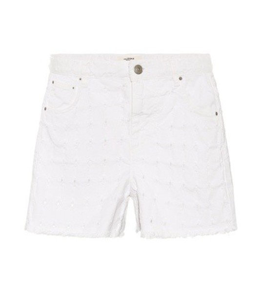 Isabel Marant, Étoile Felsey denim shorts in white