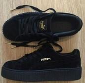 shoes,black,puma x rihanna,creepers