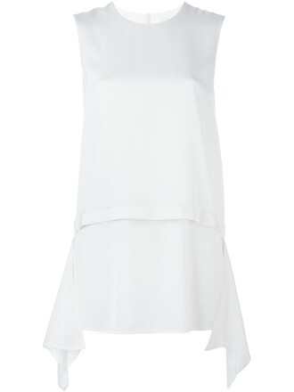 tank top top layered white