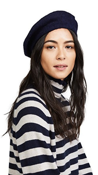 Hat Attack beret wool navy hat
