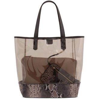 bag see through snake snake skin skin shoulder purse