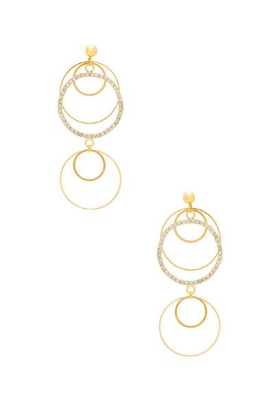 Laruicci statement metallic gold jewels