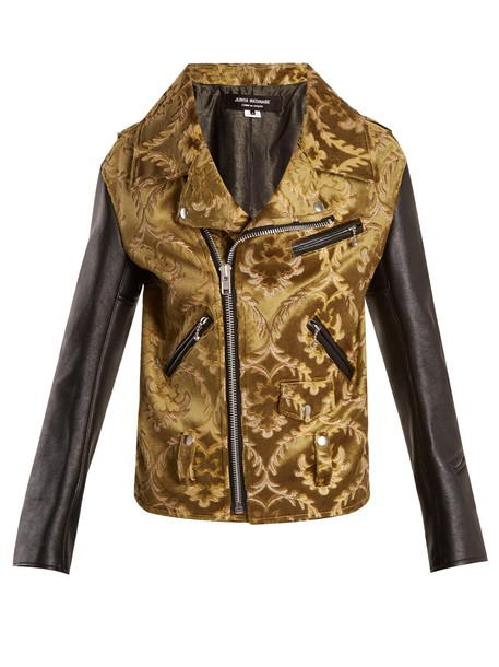 Junya Watanabe jacket jacquard floral khaki
