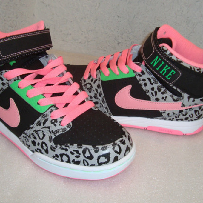 lime green shoes nike pink neon pink neon lime print