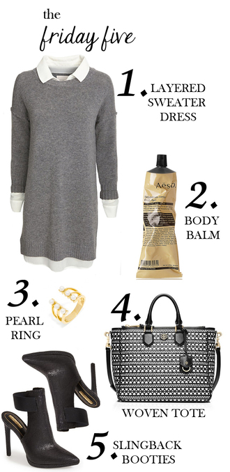 m loves m blogger sweater dress jewels bag shoes office outfits collared dress grey dress