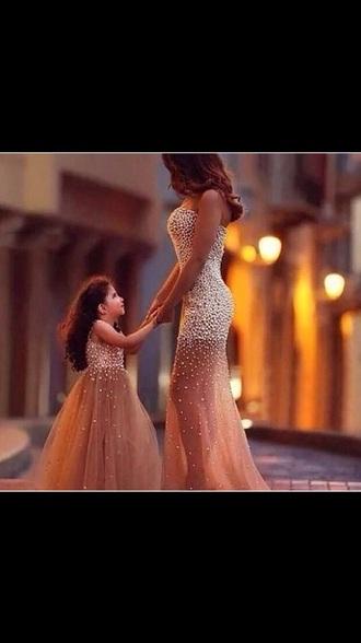 dress pearl mini me dress