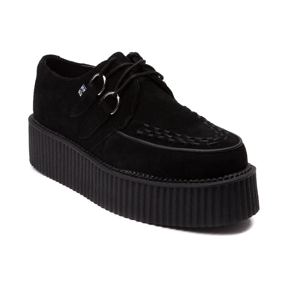 Womens T.U.K. Creeper Mondo Sole Shoe, Black   Journeys Shoes