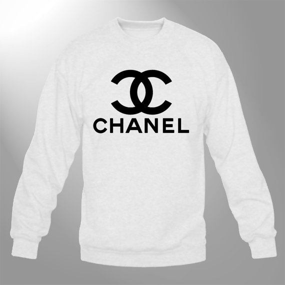 chanel sweatshirt crewneck sweater white chanel1 by customornah. Black Bedroom Furniture Sets. Home Design Ideas