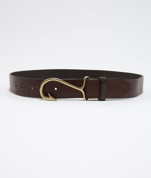 Men's Belts: Fish Hook Leather Belt for Men – Vineyard Vines