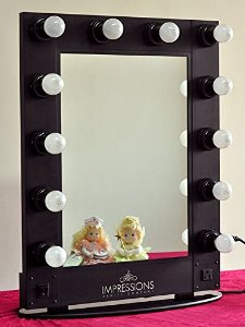 Amazon.com - Hollywood Vanity Mirror By Impressions Vanity Black -
