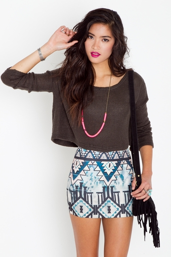Aztec pyramid skirt in  clothes at nasty gal