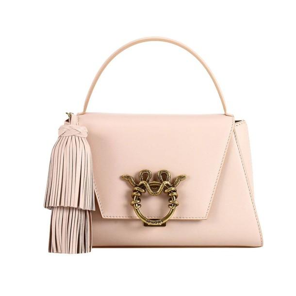 bag handbag leather nude