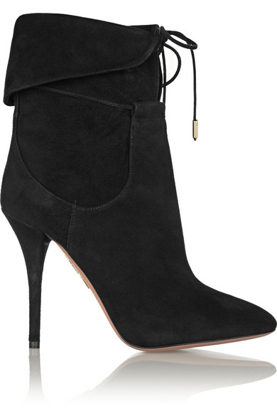 Olivia palermo suede ankle boots