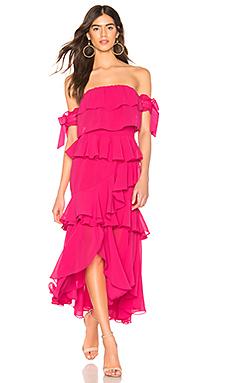 MISA Los Angeles X REVOLVE Isidora Dress in Hot Pink from Revolve.com
